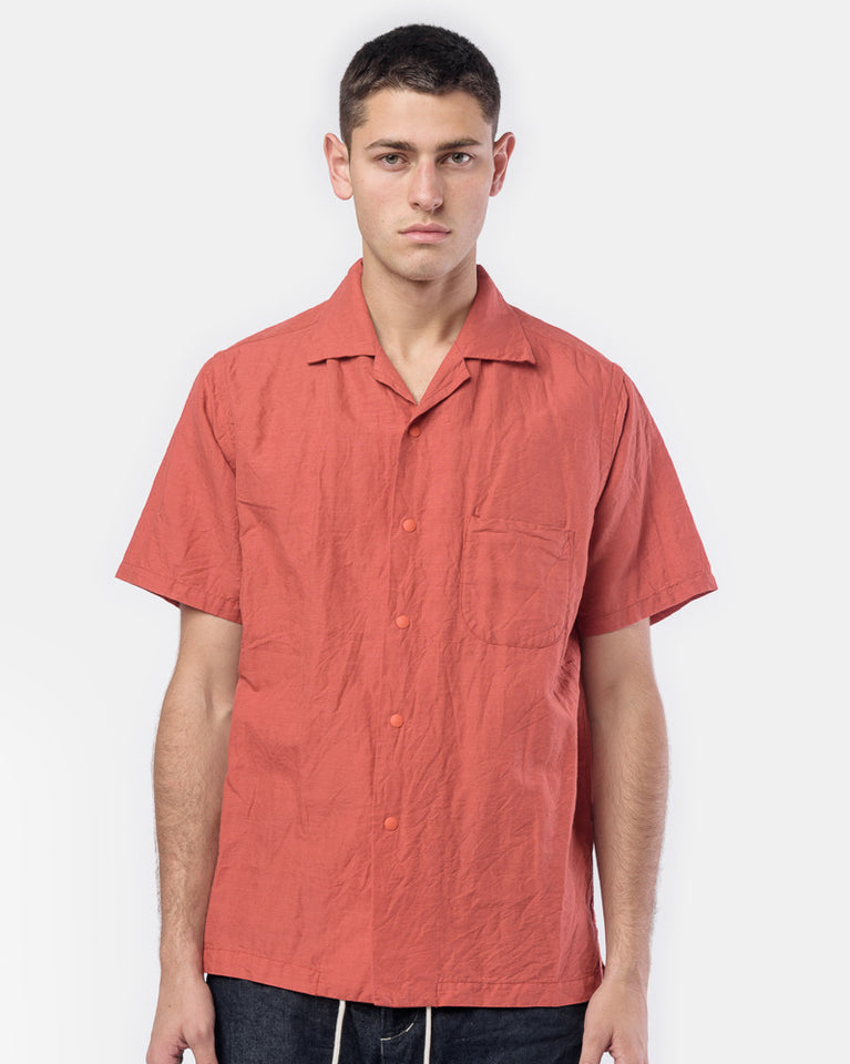 Snap-Down Shirt in Salmon