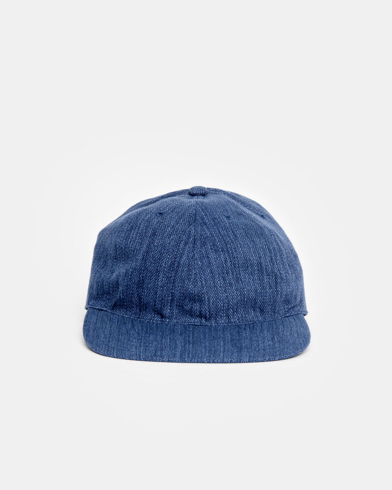 Leather Strap Cap in Blue by SMOCK Man at Mohawk General Store