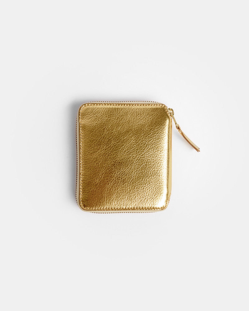 Wallet in Gold by Comme des Garçons at Mohawk General Store