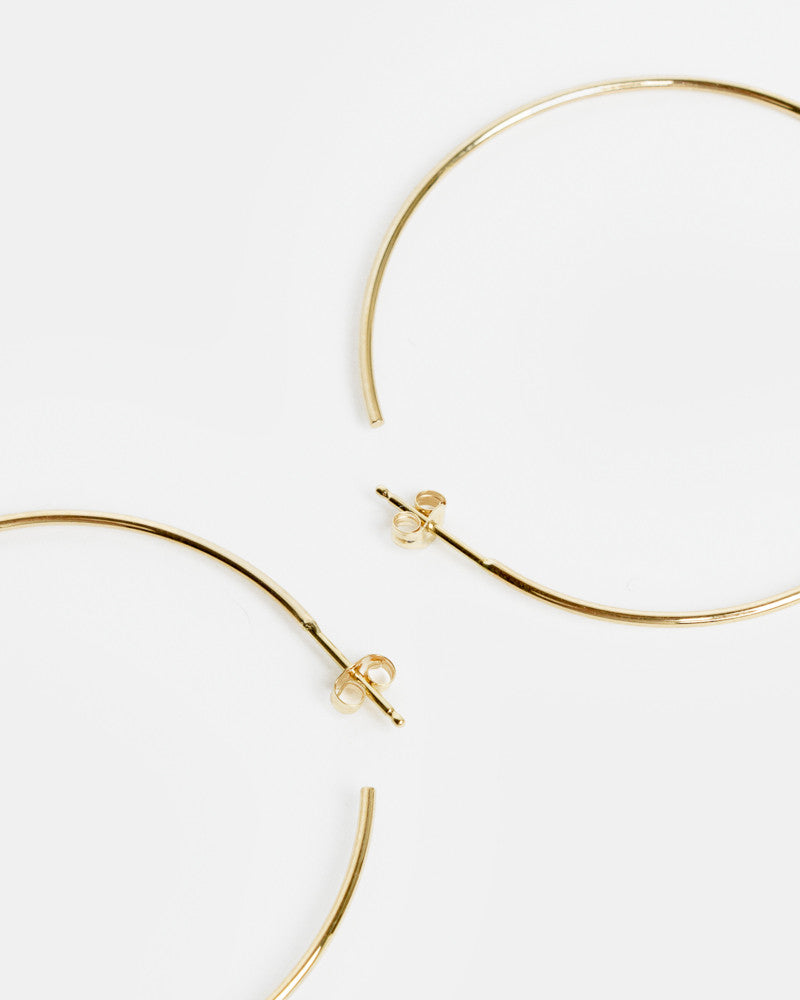 Large Thread Arc Hoops in 14k Gold by Kristen Elspeth- Mohawk General Store