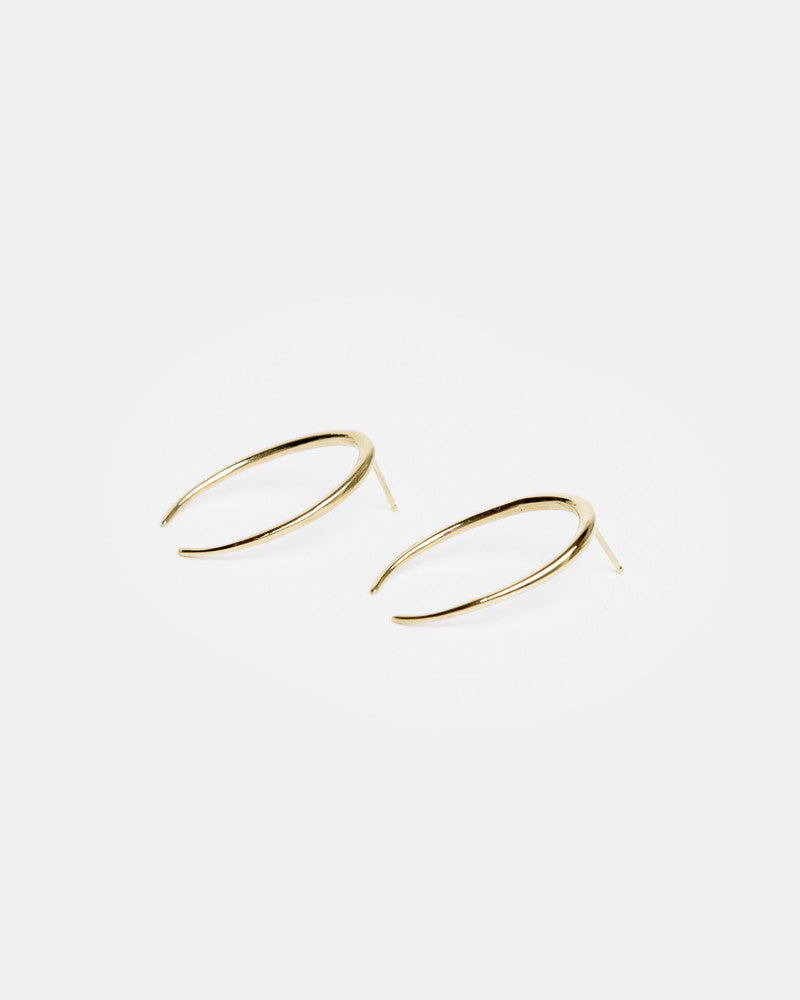 Lunula Earring in 14k Yellow Gold by Gabriela Artigas- Mohawk General Store
