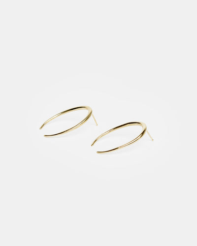 Lunula Earring in 14k Yellow Gold
