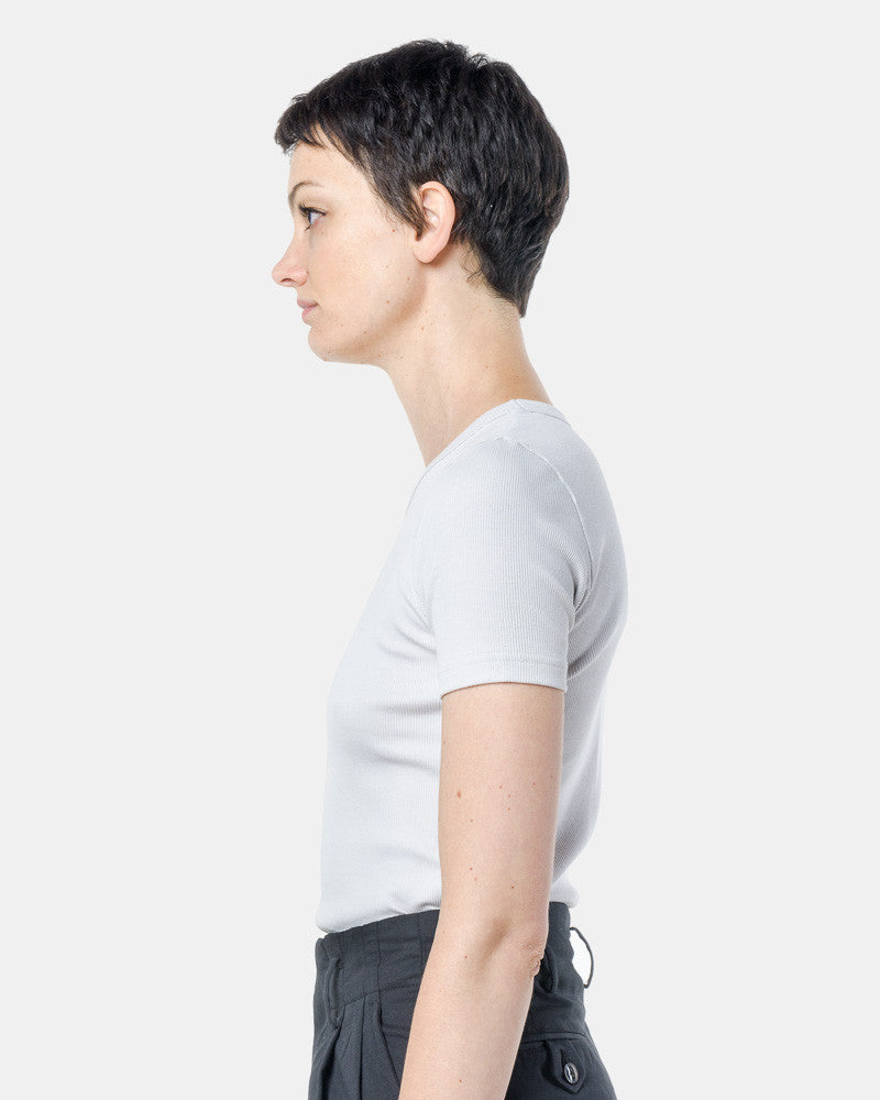 Short Sleeve Tereco Pima Tee in Grey by SMOCK Woman at Mohawk General Store