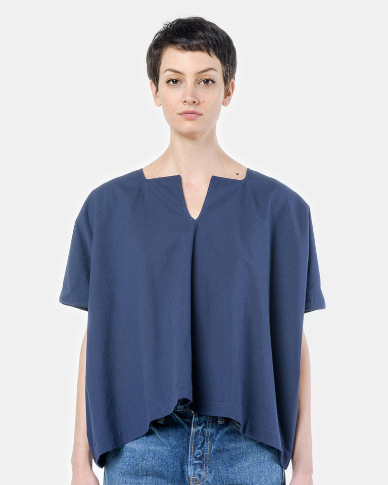 Caftan Top in Navy