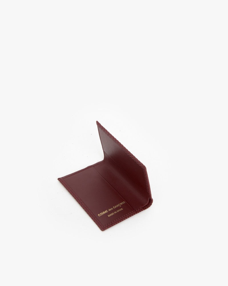 Bifold in Burgundy by Comme des Garçons at Mohawk General Store - 2