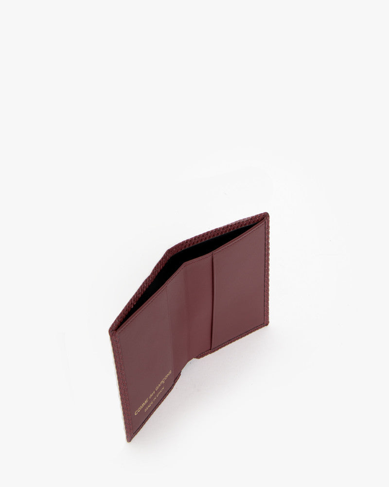 Bifold in Burgundy by Comme des Garçons at Mohawk General Store - 3