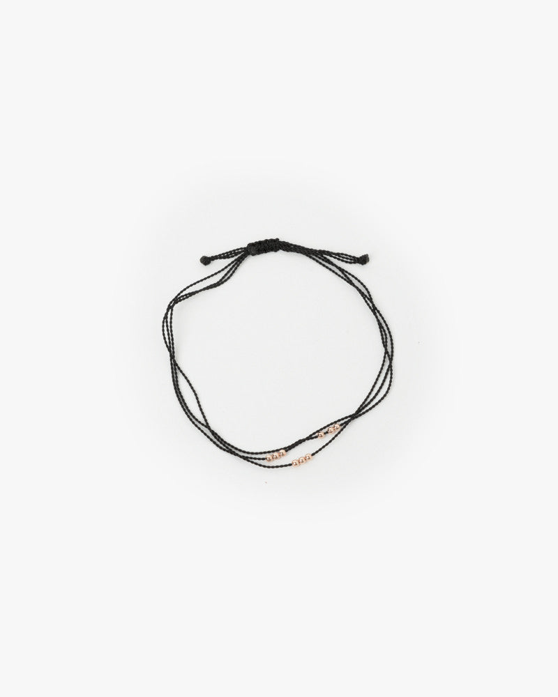 Wish Me Luck 3 Strand Bracelet in Black by Hortense at Mohawk General Store