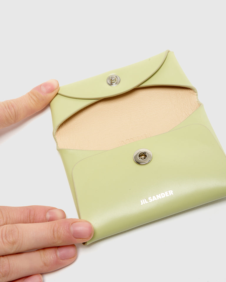 Folded Coin Purse in Pistacchio