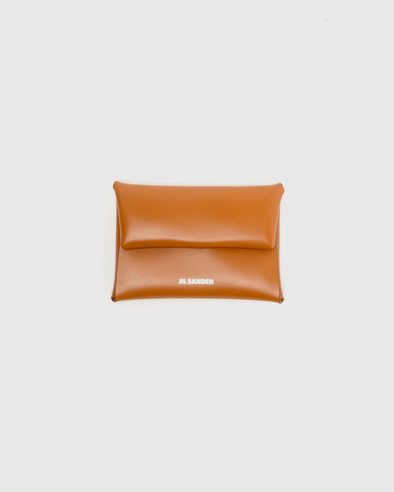 Folded Coin Purse in Medium Brown by Jil Sander at Mohawk General Store