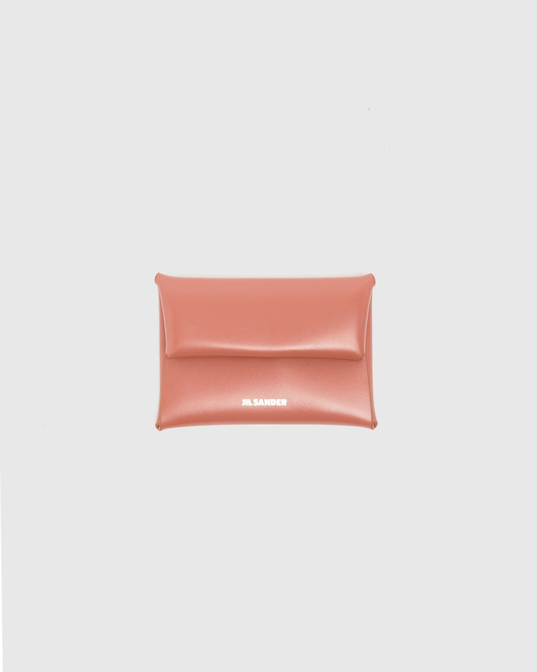 Folded Coin Purse in Dark Pink