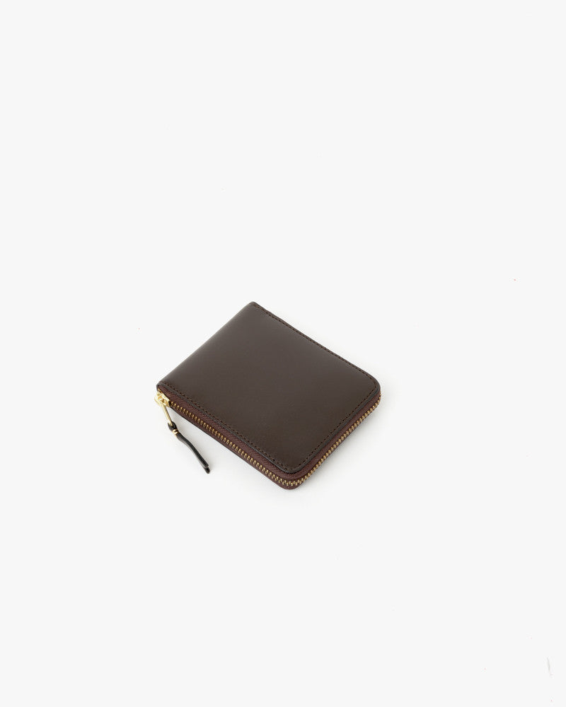 Small Zip Wallet in Chocolate by Comme des Garçons at Mohawk General Store - 1