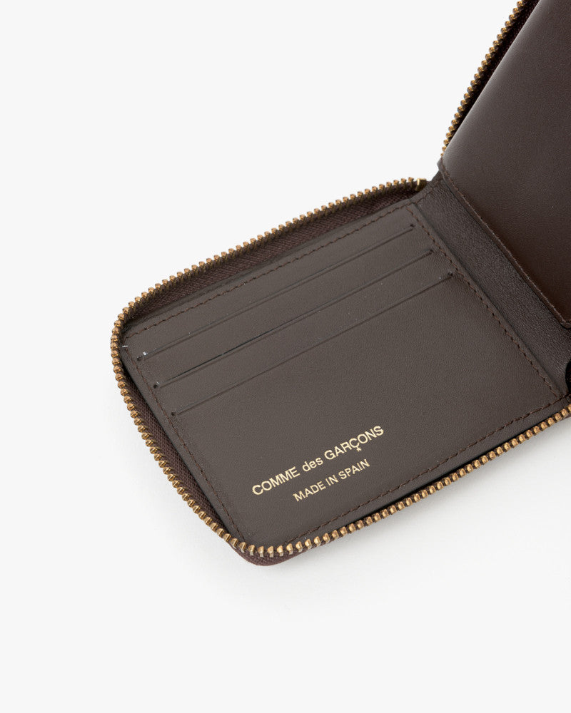 Small Zip Wallet in Chocolate by Comme des Garçons at Mohawk General Store - 4