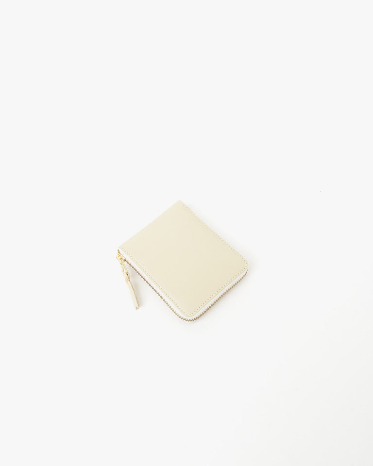 Small Zip Wallet in Cream