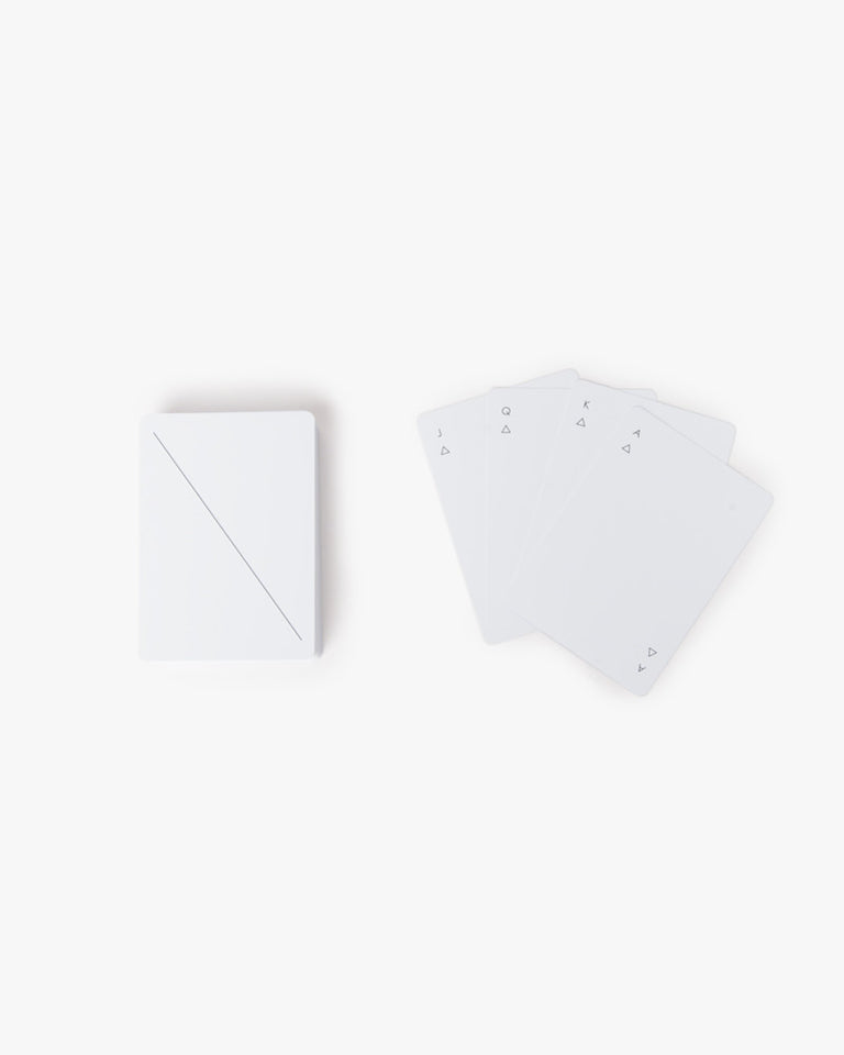 Minimal Paying Cards in White