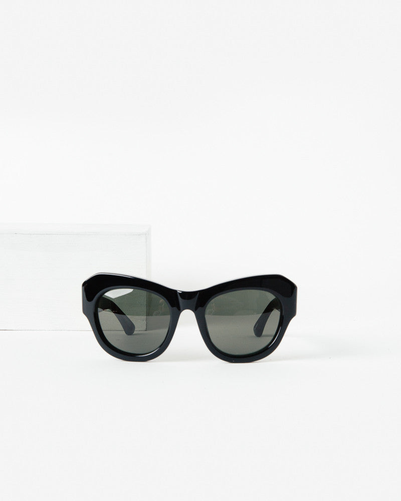 Sunglasses in Black/Silver/Green by Dries Van Noten x Linda Farrow at Mohawk General Store - 1