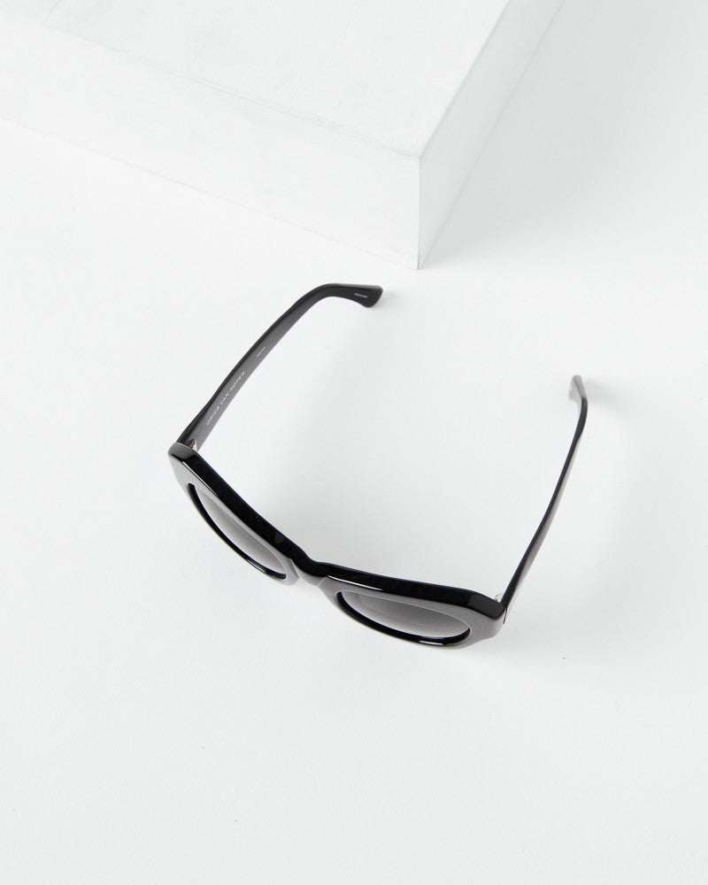 Sunglasses in Black/Silver/Green by Dries Van Noten x Linda Farrow at Mohawk General Store - 2
