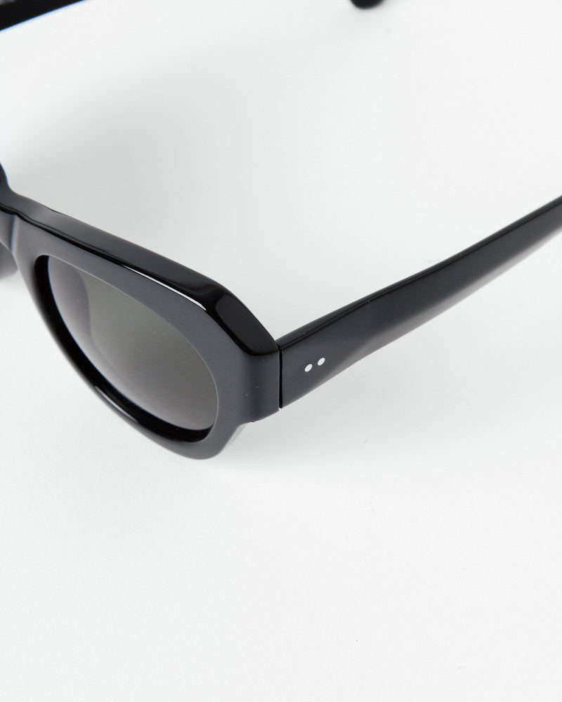 Sunglasses in Black/Silver/Green by Dries Van Noten x Linda Farrow at Mohawk General Store - 4