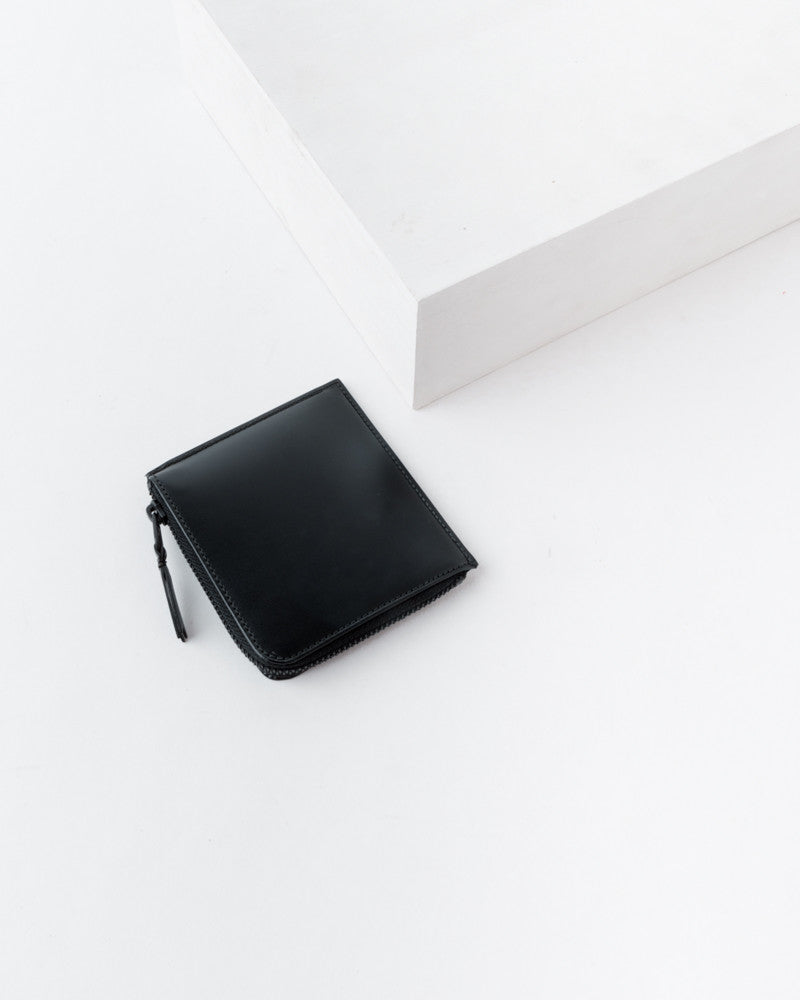 Half Zip Wallet in Very Black by Comme des Garçons at Mohawk General Store - 1