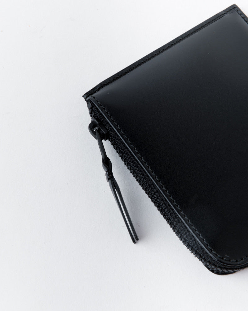 Half Zip Wallet in Very Black by Comme des Garçons at Mohawk General Store - 2
