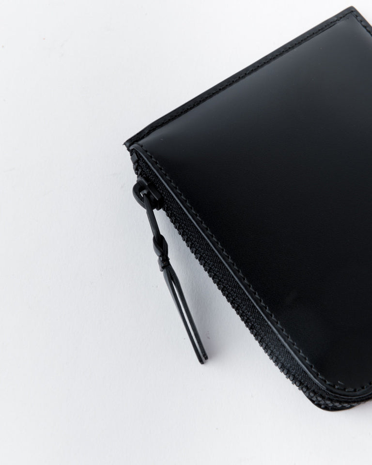 Half Zip Wallet in Very Black