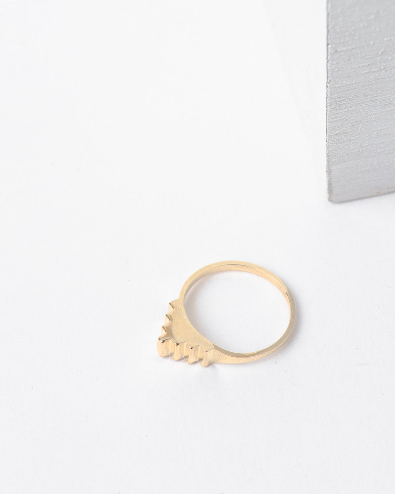 Pyramid Ring in 10k Gold by Dream Collective at Mohawk General Store - 1
