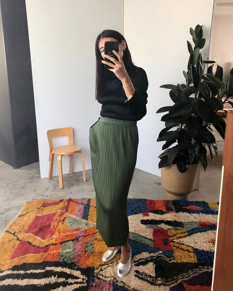 JG165 Skirt in Khaki