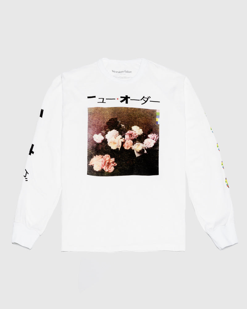 Flowers Long Sleeve Tee in White by Versions Galore at Mohawk General Store