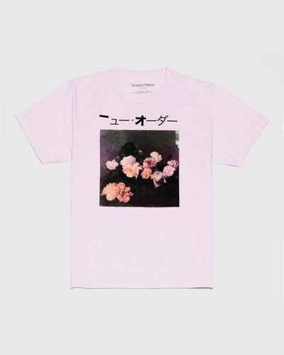 Flowers Short Sleeve Tee in Pink