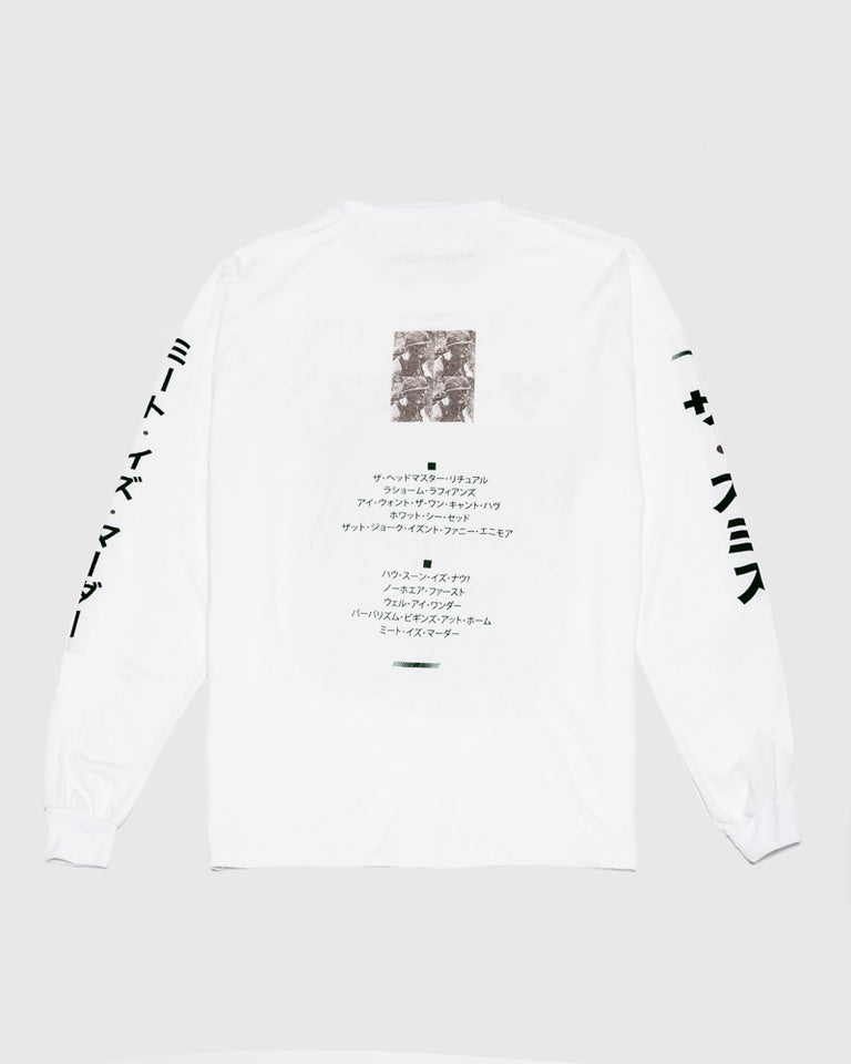 How Soon Long Sleeve Tee in White