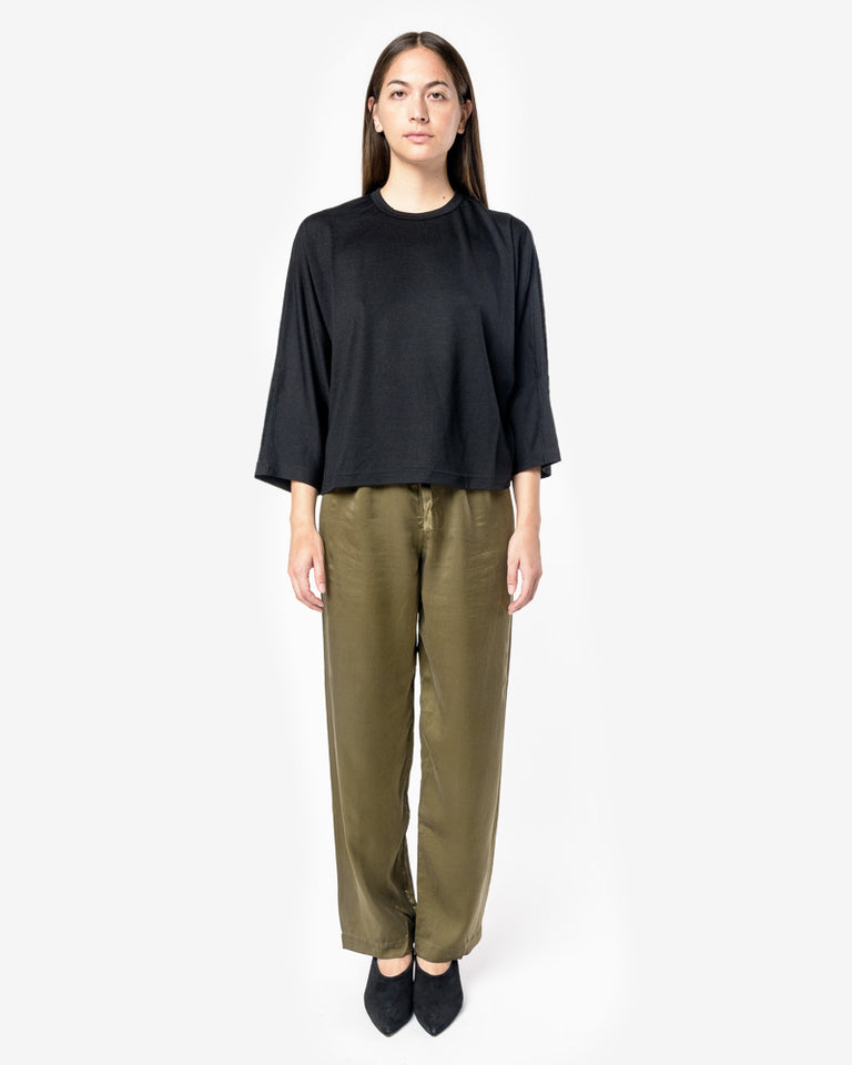Silk Pants in Green