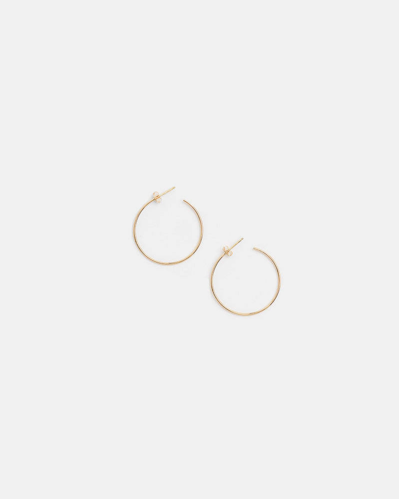 Medium Thread Arc Hoops in 14k Gold by Kristen Elspeth- Mohawk General Store