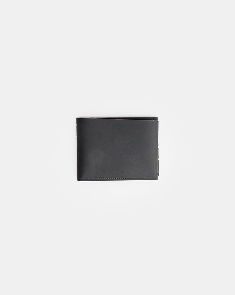 Perforated One Leaf Wallet in Carbon