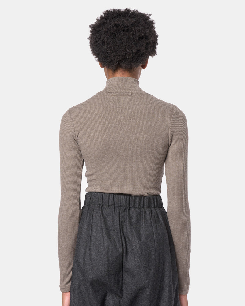 Powder Mock Neck Tee in Taupe by SMOCK Woman- Mohawk General Store