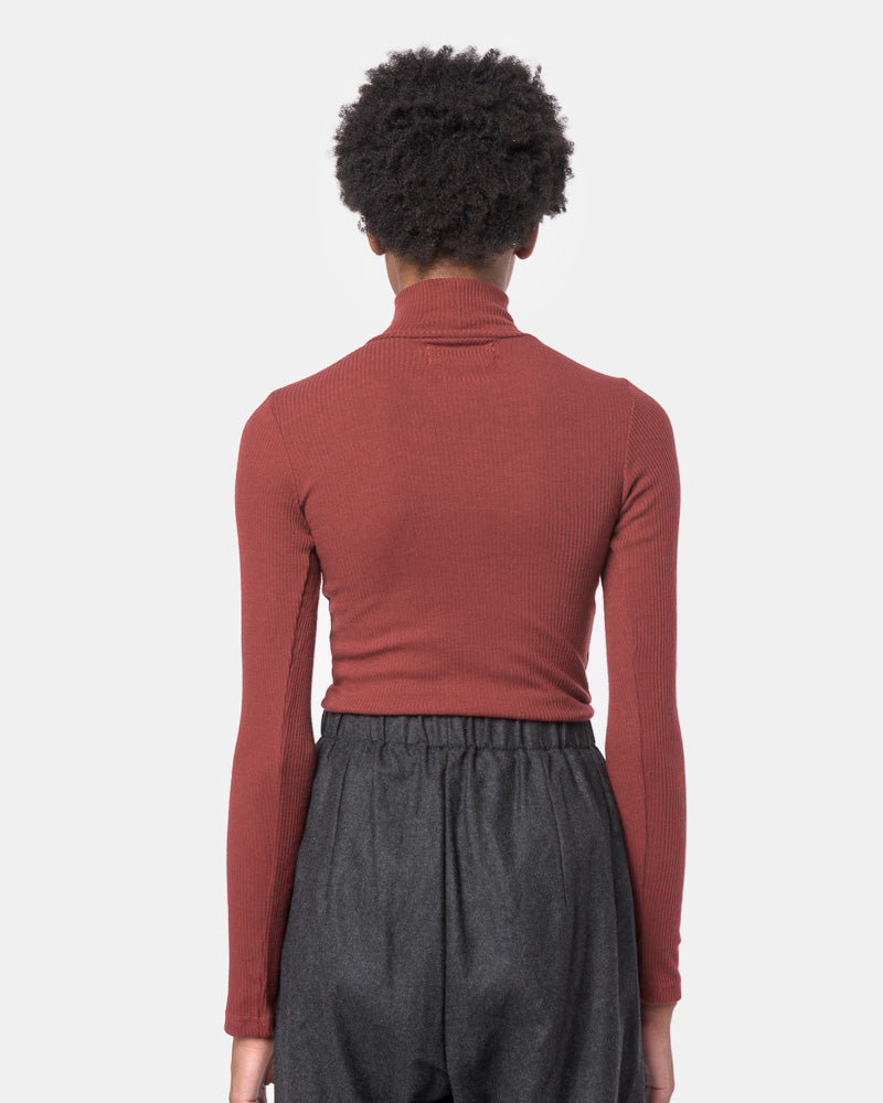 Powder Mock Neck Tee in Burgundy by SMOCK Woman- Mohawk General Store