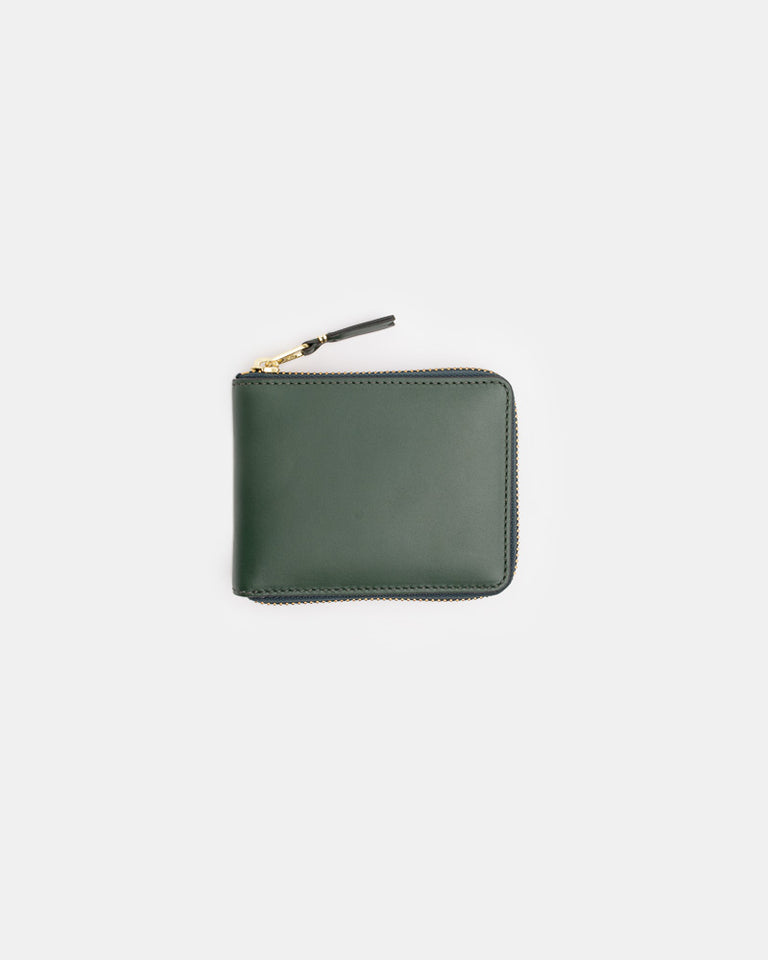 Classic Zip Wallet in Bottle Green