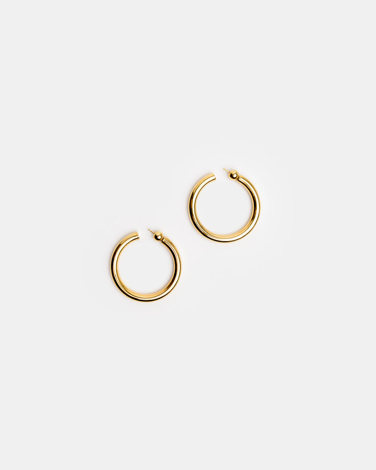 Medium Everyday Hoops in 18k Gold Vermeil