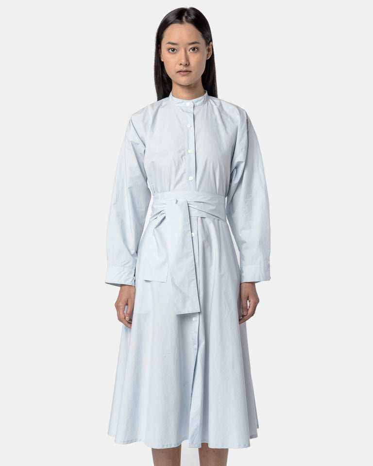 Kahlo Shirt Dress in Powder Blue
