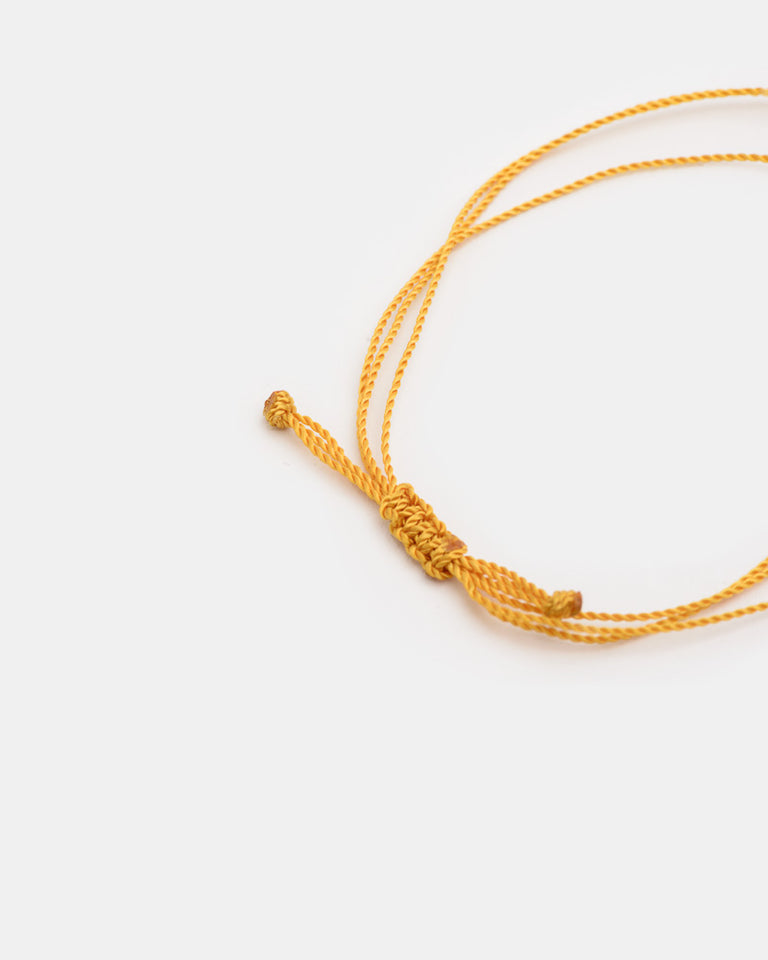 Wish Me Luck 3 Strand Bracelet in Mustard