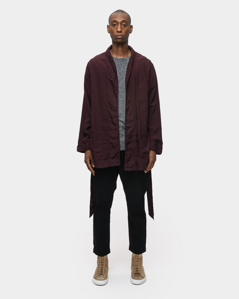 Belted Cardigan in Bordeaux by SMOCK Man- Mohawk General Store