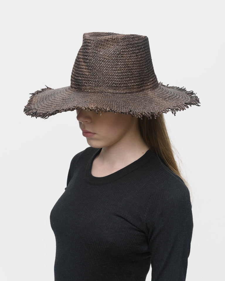 Nana Paper Hat in Brown Melange