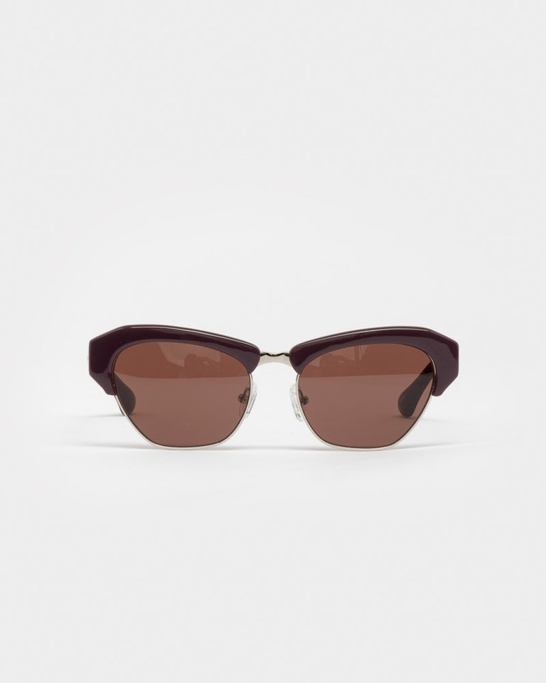 Sunglasses in Aubergine / Silver / Burgundy