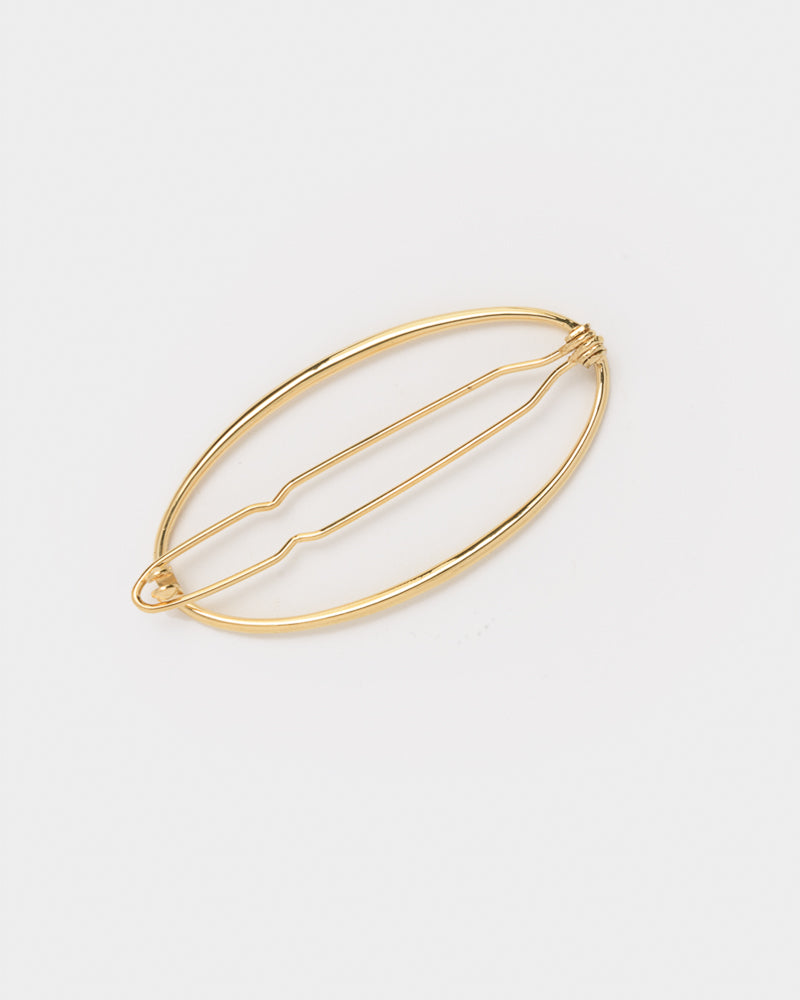 Egg Hair Barrette in Yellow Gold-Plated by Gabriela Artigas- Mohawk General Store
