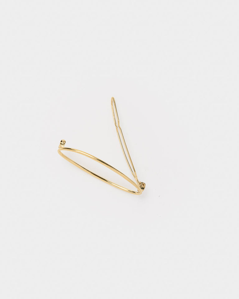 Egg Hair Barrette in Yellow Gold-Plated