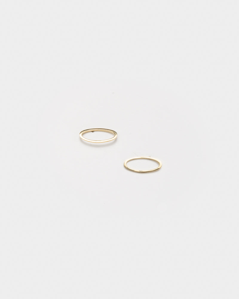 Convex Earrings in 14k Gold by Gabriela Artigas- Mohawk General Store