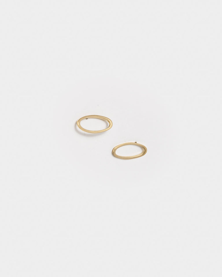 Convex Earrings in 14k Gold