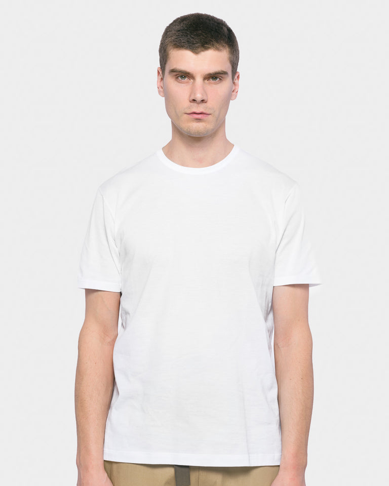 Short Sleeve Classic Crew Neck T-Shirt in White