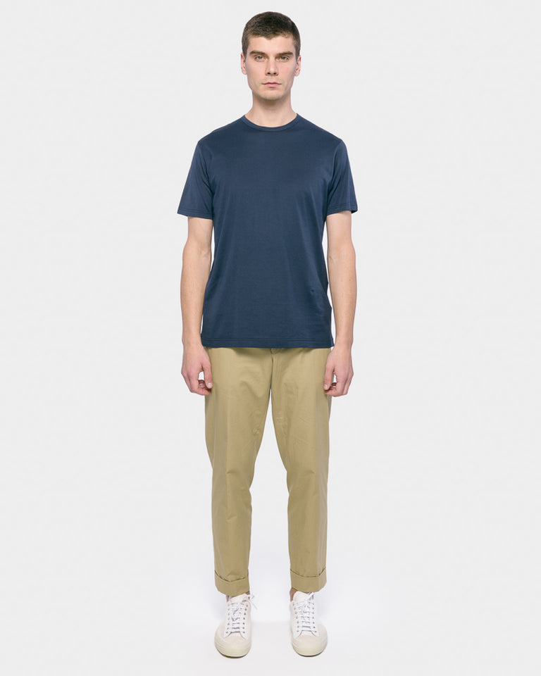 Short Sleeve Classic Crew Neck T-Shirt in Navy