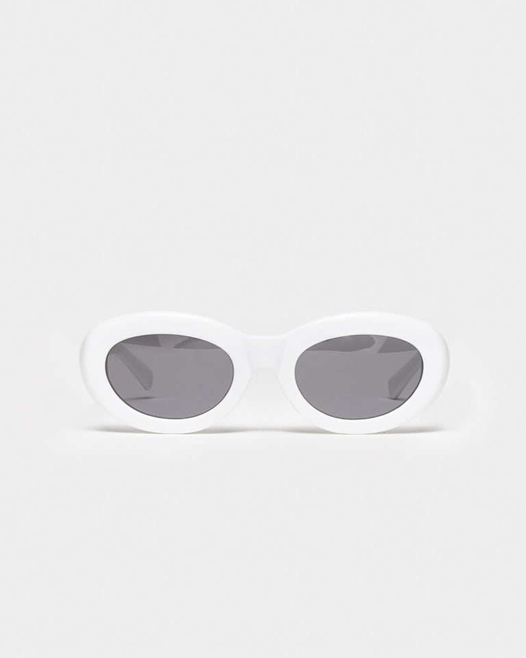 Courtney Sunglasses in Solid White
