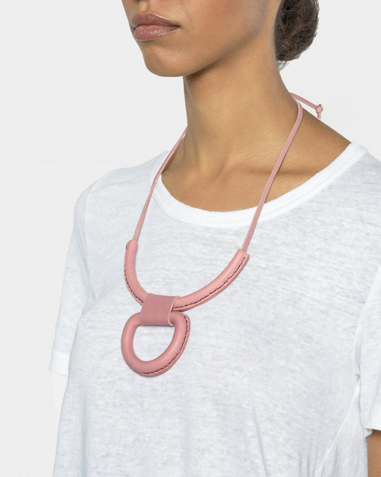 Union Necklace in Pink