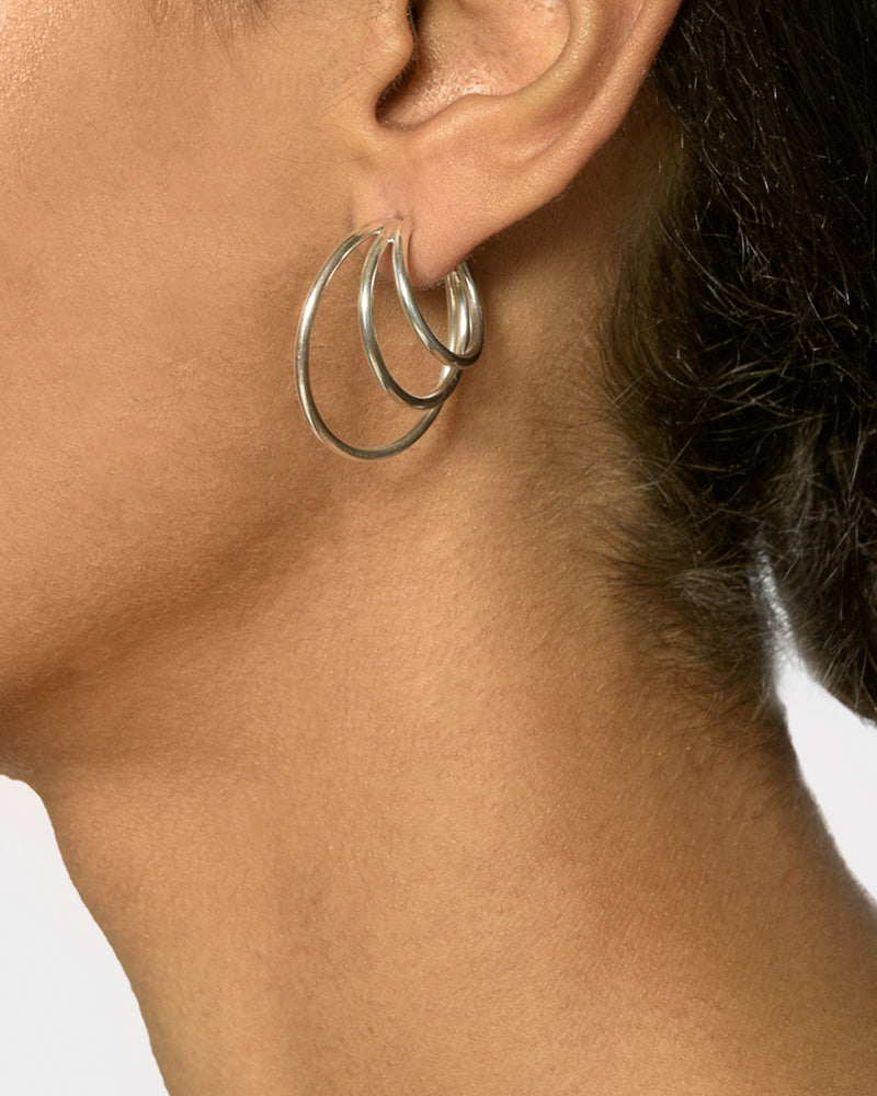 Triple Layered Hoops in Sterling Silver by Sophie Buhai- Mohawk General Store